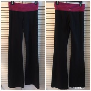 Lululemon Reversible Groove Pants Black Sz 4 34""